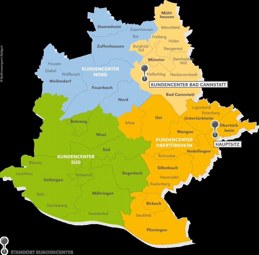 stuttgart stadtteile karte SWSG Kundencenter   SWSG Stuttgarter Wohnungs  und  stuttgart stadtteile karte